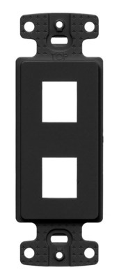Hubbell Wiring Device-Kellems NS612BK Hubbell Wiring NS612BK Homeselect™ NetSelect® Decorator Frame; Strap/Screw Mount, Thermoplastic, Black