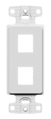 Hubbell Wiring Device-Kellems NS612W Hubbell Wiring NS612W 1-Gang Decorator Frame; Box/Wall/Strap, (2) Port, Keystone, High Impact Resistant Thermoplastic, White
