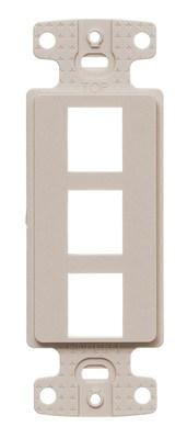 Hubbell Wiring Device-Kellems NS613LA Hubbell NS613LA Plate Decorator Keystone Frame3PORTLa