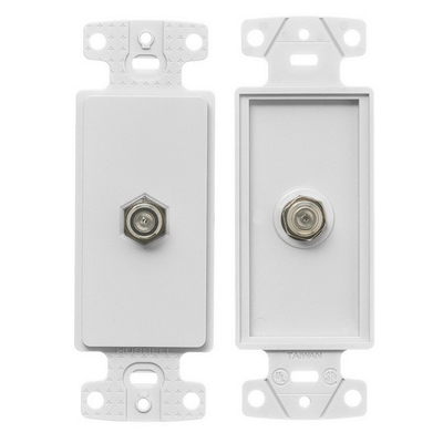 Hubbell Wiring Device-Kellems NS780W Hubbell Wiring NS780W NetSelect® 1-Gang Bulk Head Decorator Frame; Screw, (1) F-Type Connector, High Impact Resistant Thermoplastic, White