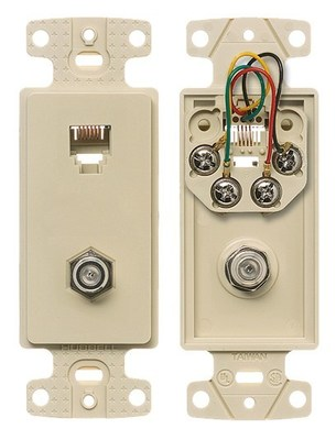 Hubbell Wiring Device-Kellems NS783I Hubbell NS783I PLATE FRAME W/F-CONN