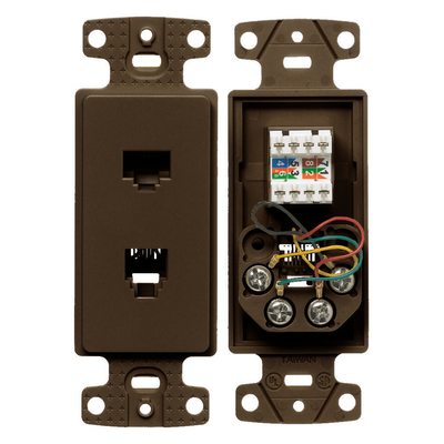 Hubbell Wiring Device-Kellems NS784 NS784 HUBBELL PLATE FRAME W/CAT5E/J