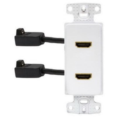Hubbell Wiring Device-Kellems NS802W Hubbell Wiring NS802W iSTATION™ Standard Size HDMI Decorator Frame; Snap-On/Snap-Fit Mount, White