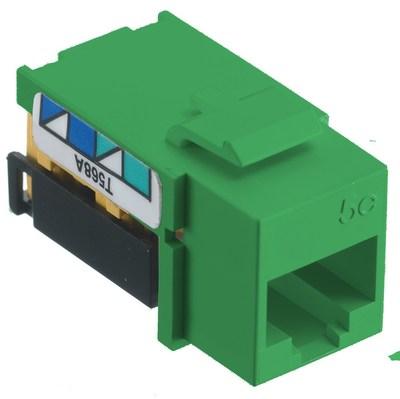 Hubbell Wiring Device-Kellems NSJ5EGN Hubbell Wiring NSJ5EGN Netselect® CAT 5e Modular Jack; 8P, Screw Mount, Green