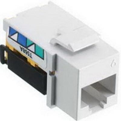 Hubbell Wiring Device-Kellems NSJ6LA25 Hubbell Wiring NSJ6LA25 NETSELECT® Universal Snap-In Category 6 Modular Voice/Data Jack; 1 Port, 8 Position, Screw Mount, Light Almond, Smooth