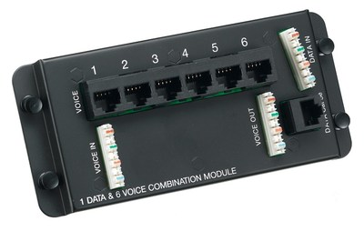 Hubbell Wiring Device-Kellems NSO6P1DM NSO6P1DM HUBBELL MODULE, NETSELECT,6 VOICE,1 DATA
