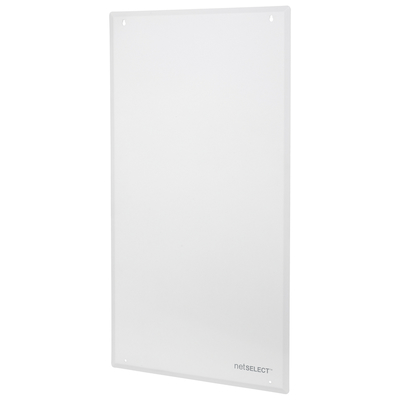 Hubbell Wiring Device-Kellems NSOBOX28C Hubbell Wiring NSOBOX28C Netselect® Panel Cover; 14.38 Inch Width x 28 Inch Height x 3.96 Inch Depth, 20-18 Gauge Steel, Powder Coated, White