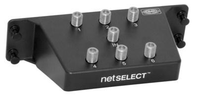 Hubbell Wiring Device-Kellems NSOVM62G Hubbell Wiring NSOVM62G NETSELECT® 6-Way Coax Splitter Module; Plastic, Black, Powder-Coated