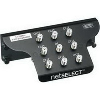 Hubbell Wiring Device-Kellems NSOVM82G Hubbell Wiring NSOVM82G NETSELECT® 8-Way Coax Splitter Module; Plastic, Black, Powder-Coated