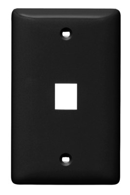 Hubbell Wiring Device-Kellems NSP11BK Hubbell Wiring NSP11BK Netselect® Multimedia Standard 1-Gang Faceplate without Label; 1-Port, Screw Mount, High Impact Resistant Thermoplastic, Black