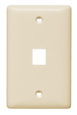 Hubbell Wiring Device-Kellems NSP11LA Hubbell NSP11LA Plate WallLabelLess1G1PortLa