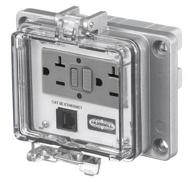 Hubbell Wiring Device-Kellems PR205E Hubbell PR205E Wiring Device-Kellems Access Port,power and data,nema