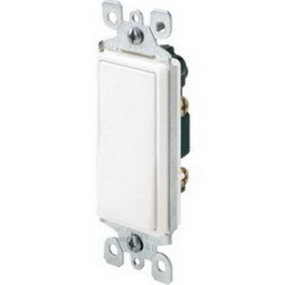 Hubbell Wiring Device-Kellems RSD115ILW Hubbell Wiring RSD115ILW TradeSelect® Illuminated Two Position Decorator Quiet Switch; 1-Pole, 120 Volt AC, 15 Amp, White