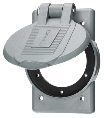 Hubbell Wiring Device-Kellems WP2 Hubbell WP2 Weatherproof Lift Cover for Inlets/Outlets
