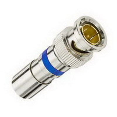 Ideal 89-048 Ideal 89-048 RG-6 BNC Compression Connector; Brass, Nickel-Plated, 75 Ohm Impedance, Card of 15