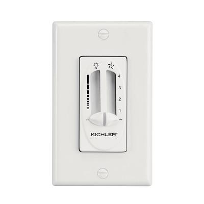 Kichler Lighting 337010WH Kichler 337010WH Fan/Light Dual Slider Control; 1.25 Amp, White