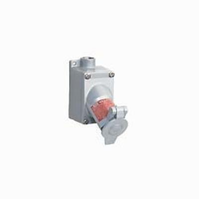 Killark Elec Mfg UGR2-20231 Hubbell Electrical / Killark UGR2-20231 Acceptor® UGR Interchangeable Blade Style Receptacle with Back Box; 20 Amp, 125 Volt, 2-Pole, 3-Wire, Gray