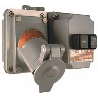 Killark Elec Mfg UGRGF107 Hubbell Electrical / Killark UGRGF107 Acceptor® GFI Protected Receptacle with Back Box; 20 Amp, 125 Volt, 2-Pole, 3-Wire