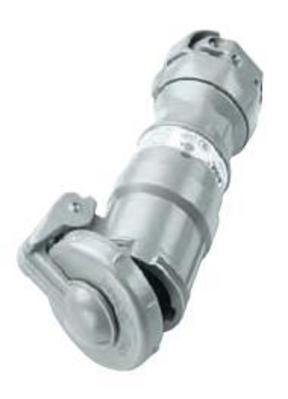 Killark Elec Mfg VPR10467 Hubbell Electrical / Killark VPR10467 Versamate® Grounding Style 2 Connector; 100 Amp, 600 Volt, 4-Pole, 3-Wire, 3 Phase, Gray
