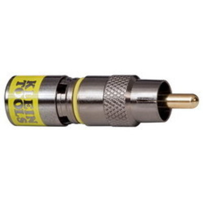 Klein Tools VDV813-614 Klein Tools VDV813-614 RG6/6Q Universal RCA Compression Connector; Yellow, 35/Pack