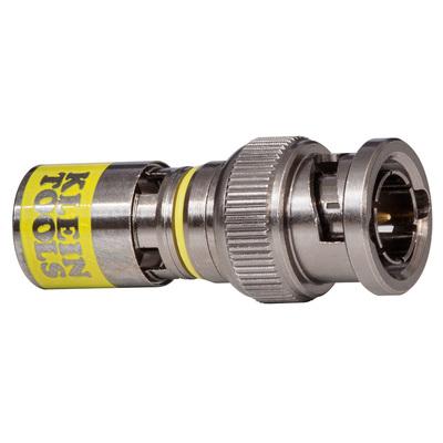 Klein Tools VDV813607 Klein Tools VDV813-607 RG-6/6Q Universal BNC Compression Connector; Yellow, 10/Pack