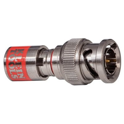 Klein Tools VDV813616 Klein Tools VDV813-616 RG-59 Universal BNC Compression Connector; Red, 10/Pack
