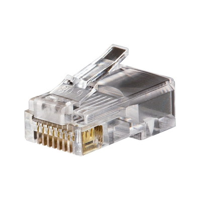 Klein Tools VDV826628 Klein Tools VDV826-628 Category 5 RJ45 Modular Data Plug; 8P8C, Clear, 10/Pack