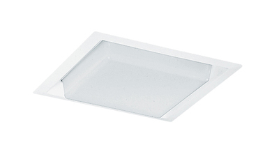 Lithonia Lighting / Acuity 71-WH Juno Lighting 71-WH 10 Inch Square Drop Opal Trim; 100 Watt Incandescent, Recessed Mount, White