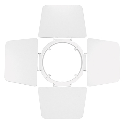 Lithonia Lighting / Acuity T73WH550 Juno Lighting T73WH Trac-Master® Barn Door; 5-1/2 Inch, White, T-Bar Ceiling Mount