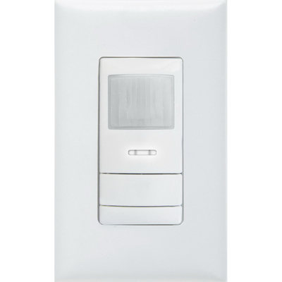 Lithonia Lighting / Acuity WSXPDTSAWH Lithonia Lighting / Acuity WSX-PDT-SA-WH Sensor Switch® Wall Mount Dual Technology Passive Infrared Switch Sensor; 120/277 Volt AC, 20 ft, Vacancy (Default) Or Auto ON, White