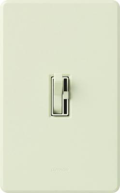 Lutron AYCL-153P-LA Lutron AYCL-153P-LA Ariadni® C. L™ Single Pole 3-Way Slide Dimmer with Toggle Switch; 120 Volt AC, 150 Watt, CFL/LED/Incandescent/Halogen, Light Almond