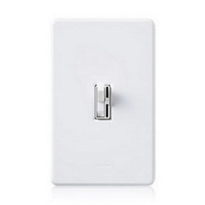 Lutron AYCL-253P-WH Lutron AYCL-253P-WH Ariadni® C.L™ 3-Way Preset Slide Dimmer With Toggle Switch; 120 Volt AC, White Color Gloss Finish, Wall Box Mount