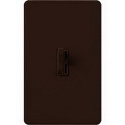 Lutron AYLV-603P-BR Lutron AYLV-603P-BR Ariadni® Single Pole 3-Way Magnetic Low Voltage Preset Slide Dimmer with Toggle Switch; 120 Volt AC, 450 Watt, Brown