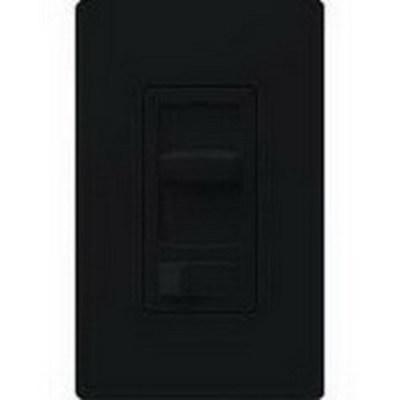 Lutron CTCL-153P-BL Lutron CTCL-153P-BL Skylark Contour® C.L™ Single Pole 3-Way Preset Slide Dimmer with Toggle Switch; 120 Volt AC, 600/150 Watt, CFL/LED/Incandescent/Halogen, Black