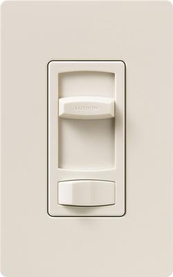 Lutron CTFSQ-F-LA Lutron CTFSQ-F-LA Skylark Contour® Quiet 3-Speed 3-Way Fan Control; 120 Volt AC, 1.5 Amp, Rocker Switch, Light Almond Color Gloss Finish