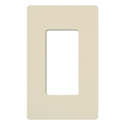 Lutron CW-1-LA Lutron CW-1-LA Designer Claro® 1-Gang GFCI Decorator Wallplate; Device Mount, Thermoplastic, Light Almond