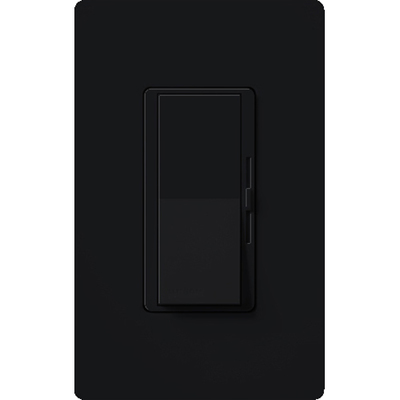Lutron DVCL-153P-BL Lutron DVCL-153P-BL Diva® C.L™ Single Pole 3-Way Preset Slide Dimmer with Paddle On/Off Switch; 120 Volt AC, 600/150 Watt, CFL/LED/Incandescent/Halogen, Black