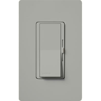 Lutron DVCL-153P-GR Lutron DVCL-153P-GR Diva® C.L™ Single Pole 3-Way Preset Slide Dimmer with Paddle On/Off Switch; 120 Volt AC, 600/150 Watt, CFL/LED/Incandescent/Halogen, Gray