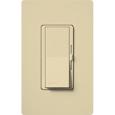 Lutron DVCL-153P-IV Lutron DVCL-153P-IV Diva® C.L™ Single Pole 3-Way Preset Slide Dimmer with Paddle On/Off Switch; 120 Volt AC, 600/150 Watt, CFL/LED/Incandescent/Halogen, Ivory