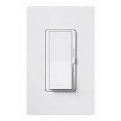 Lutron DVCL-153P-WH Lutron DVCL-153P-WH Diva® C.L™ Single Pole 3-Way Preset Slide Dimmer with Paddle On/Off Switch; 120 Volt AC, 600/150 Watt, CFL/LED/Incandescent/Halogen, White