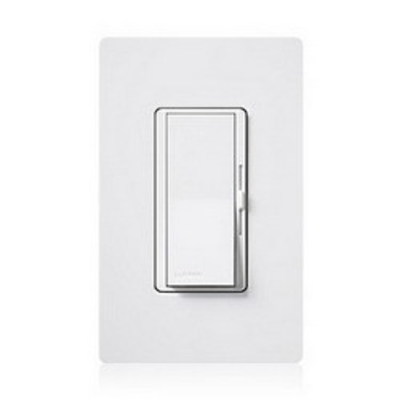 Lutron DVCL-153PH-LA Lutron DVCL-153PH-LA Diva® C.L™ 3-Way Preset Slide Dimmer With Paddle On/Off Switch; 120 Volt AC, Light Almond Color Gloss Finish, Wall Box Mount