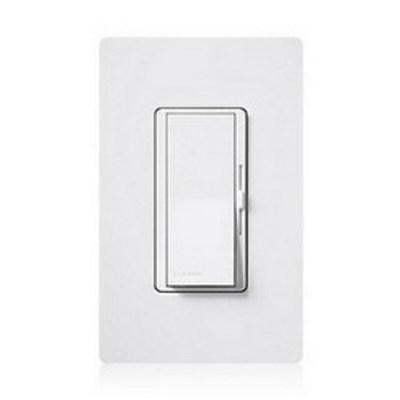 Lutron DVSC-600P-BI Lutron DVSC-600P-BI Diva® Preset Slide Dimmer With Paddle On/Off Switch; 120 Volt AC, 600 Watt, Biscuit Color Satin Finish, Wall Box Mount