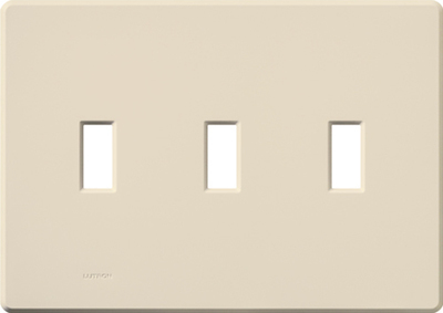 Lutron FG-3-LA Lutron FG-3-LA Fassada® 3-Gang Wallplate; Plastic, Light Almond, Wall Mount