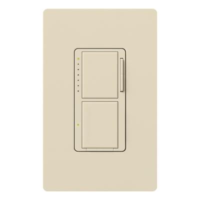 Lutron MA-L3S25-LA Lutron MA-L3S25-LA Maestro® Single Pole Digital Tap On/Off Fade Dimmer Switch; 120 Volt AC, 300 Watt, 2.5 Amp, Incandescent/Halogen, Light Almond