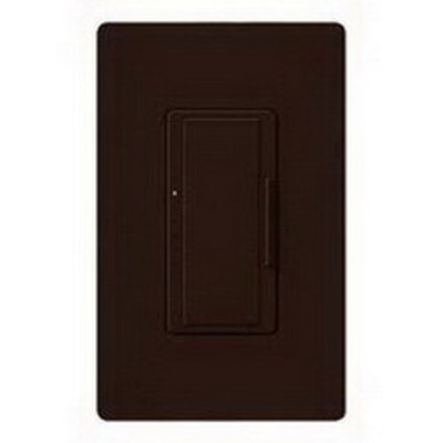 Lutron MAELV-600-BR Lutron MAELV-600-BR Maestro® Single Pole Electronic Low Voltage Tap On/Off Dimmer Switch; 120 Volt AC, 600 Watt, LED, Brown