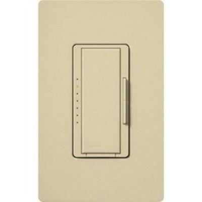 Lutron MALV-1000-IV Lutron MALV-1000-IV Maestro® Single Pole Magnetic Low Voltage Tap On/Off Dimmer Switch; 120 Volt AC, 800 Watt, Ivory