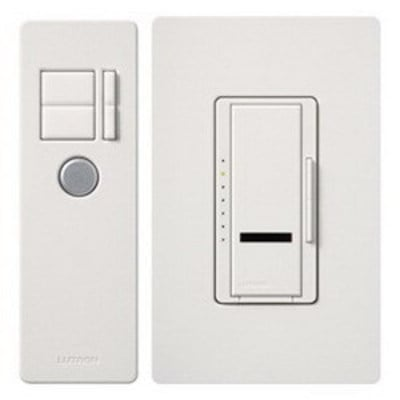 Lutron MIR-600T-WH Lutron MIR-600T-WH Maestro IR® Digital Fade Tap On/Off Dimmer Switch With IR Remote Control; 120 Volt AC, White Color Gloss Finish, Wall Box Mount