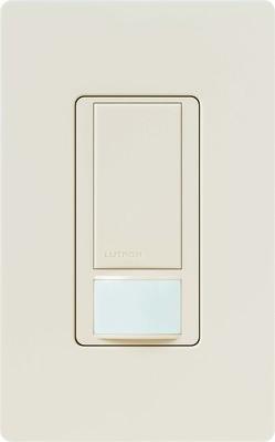 Lutron MS-OPS2-LA Lutron MS-OPS2-LA Maestro® XCT™ Passive Infrared Occupancy/Vacancy Sensor Switch; 120 Volt AC, 900 Sq ft, Light Almond, Box Mount