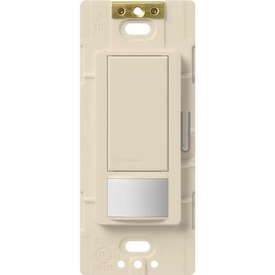 Lutron MS-OPS5M-LA Lutron MS-OPS5M-LA Maestro® XCT™ Passive Infrared Multi Location 3-Way Occupancy/Vacancy Sensor Switch; 120 Volt AC, 5 Amp, 900 Sq ft, Light Almond, Box Mount