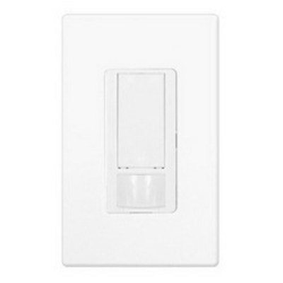 Lutron MS-OPS6-DDV-WH Lutron MS-OPS6-DDV-WH Maestro® Dual-Circuit Switch With Occupancy/Partial-On Sensor; 120 Volt AC, Up to 30 ft, White, Wallbox Mount